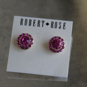 Robert Rose pink earrings